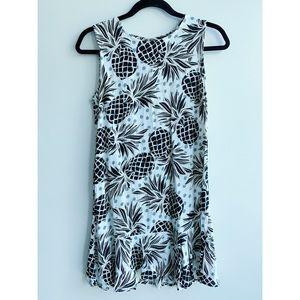Ava Sky Drop Waist Dress (Pineapple)